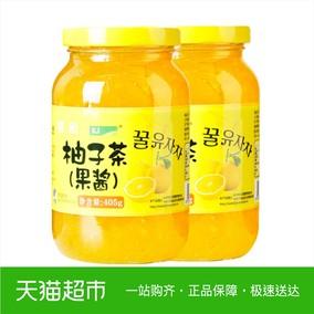 kj果味茶蜂蜜柚子茶405Gx2瓶韩式风味果茶冲饮柚子果酱果汁饮料