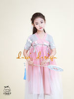 Hanfu girls Chinese style improvement super fairy ancient wind skirt summer new children's princess mesh dress skirt dress