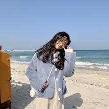 YUKI小树家自制温油显高仿貂毛小圆领外套女韩国18冬季新款o1201