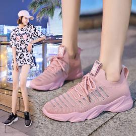 飞织网面镂空透气运动鞋女夏季2019新韩版网红单鞋学生休闲跑步鞋图片