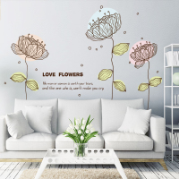 浪漫客厅卧室装饰品墙贴纸文艺宿舍植物花朵花卉自粘墙纸墙面贴画