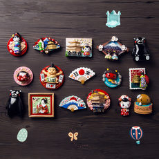 Personality Creativity of Three-dimensional Refrigerator Magnetically Sticked and Magnetically Sticked Decorations Small Gifts for Japanese Tourist Accompanying Gifts and Souvenirs