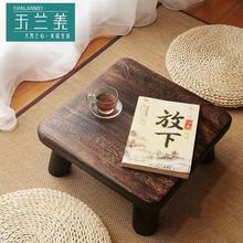 日式飘窗桌实木炕桌炕几榻榻米桌窗台床上迷你方桌小茶几矮茶桌子