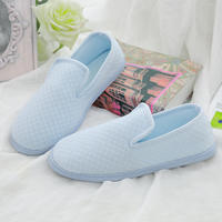Moon shoes summer thin bag with soft bottom maternity shoes grid pregnant women postpartum shoes thick waterproof non-slip small single shoes