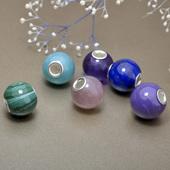 绿东陵 拉长 紫水晶 孔雀石 橙月光 安佩尔小圆珠 可搭欧式手镯链