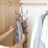 多功能挂围巾架家用收纳神器领带丝巾架子皮带丝袜挂架圈圈环衣架