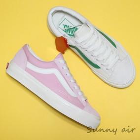 【Sunny现货】VANS STYLE36白绿粉白情侣翻毛复古板鞋VN0A3DZ3RFX