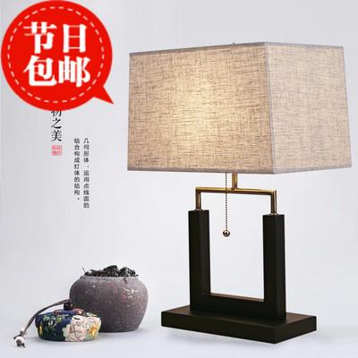 新中式装饰台灯简约复古样板房间创意客厅卧室床头灯现代中式台灯