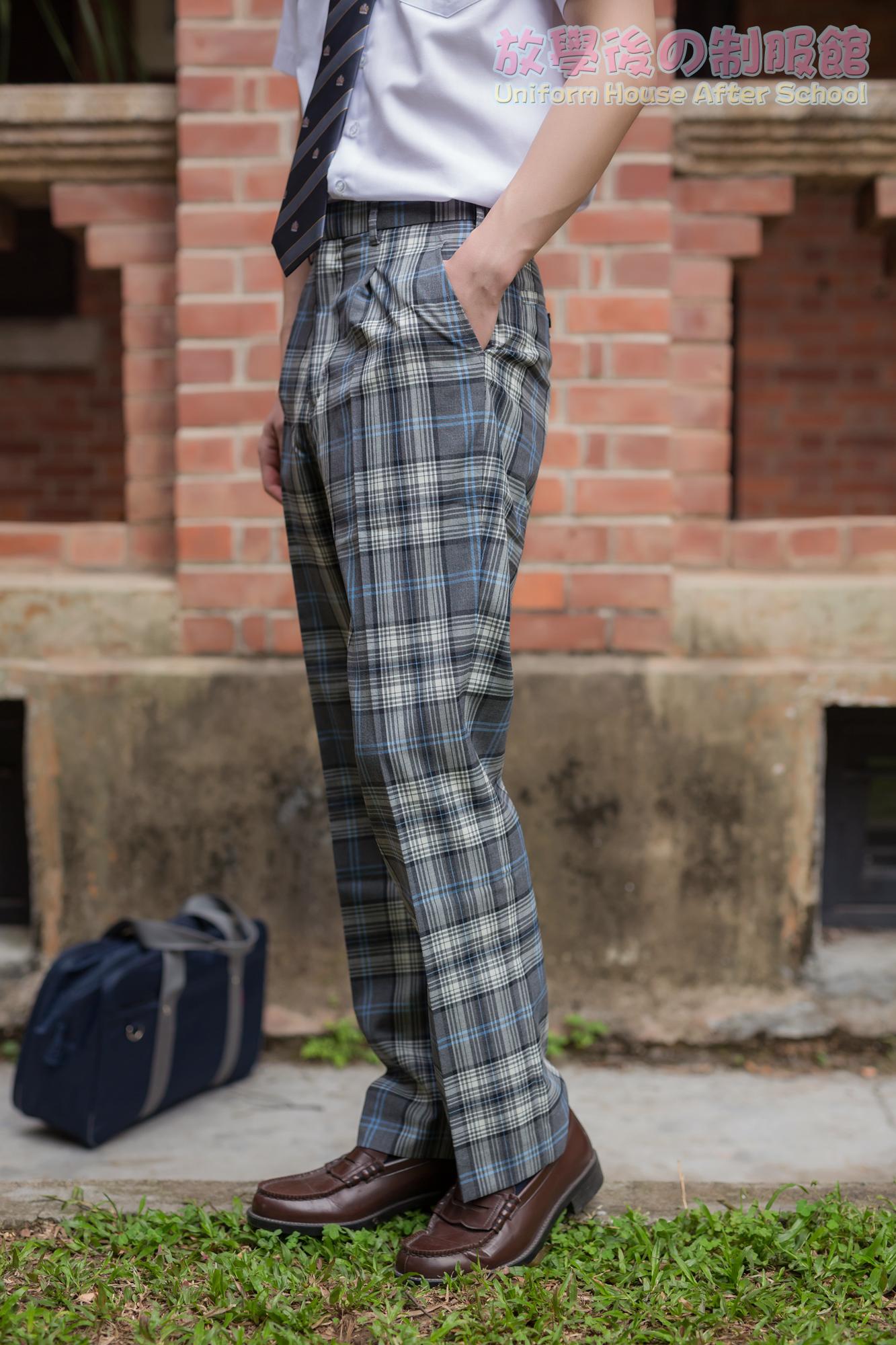 放学后 jk制服男校服裤夏季日系正统学生英伦格子dk班服长裤子