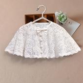 防晒婴儿外搭宝宝蕾丝小外套披风儿童 女童披肩斗篷夏季配裙子薄款图片