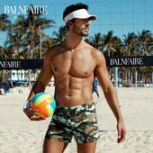 范德安新款男士游泳裤 时尚速干运动大码平角温泉泳装海边装备
