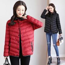 2018冬季新款短款棉衣女胖妹妹加肥加大羽绒棉服大码修身棉袄外套