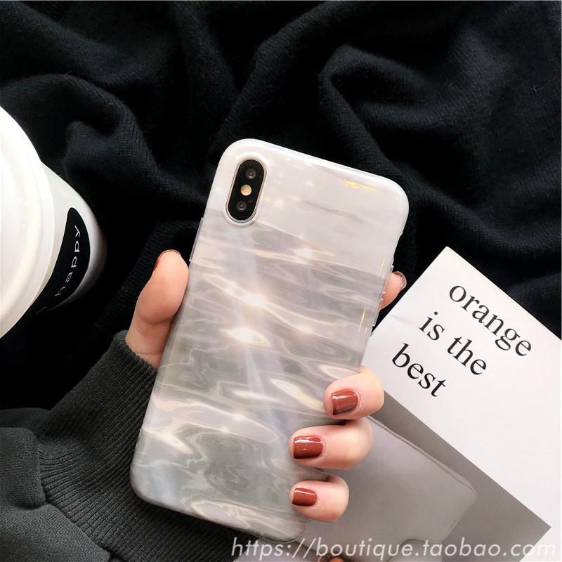 小清新蘋果x手機殼iphone xs max軟殼8plus簡約6s女款7/XR硅膠套