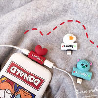 Apple headphone adapter two in one while listening to the song charging Apple x data line converter cute cartoon female