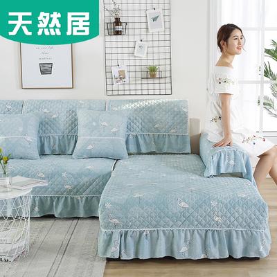 天然居沙发垫四季通用简约现代全包欧式布艺防滑坐垫罩沙发套全盖新品特惠