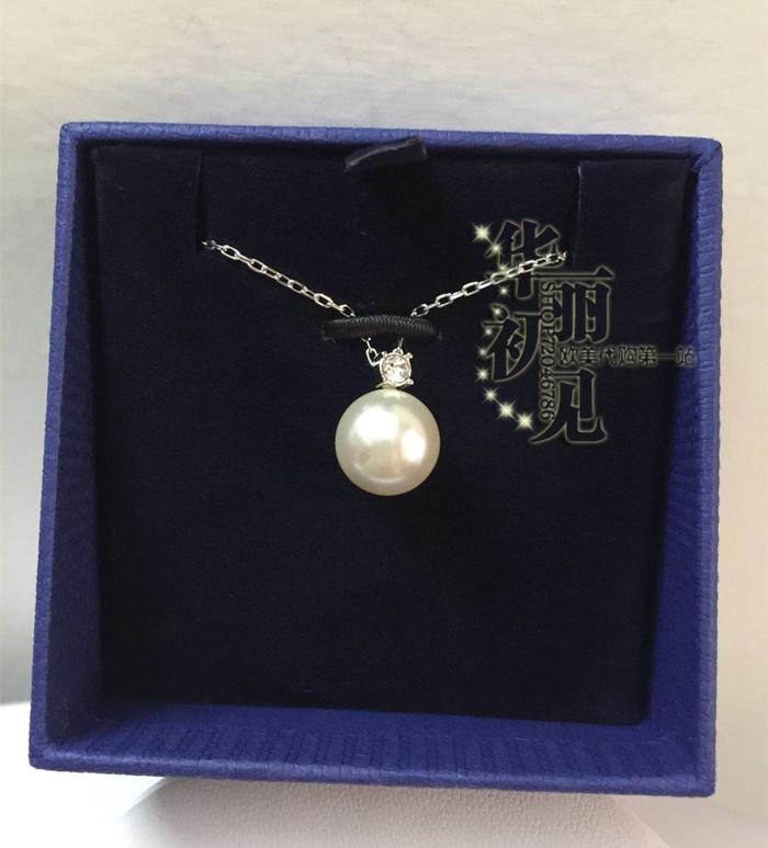 国内现货 美国施华洛世奇专柜单钻水晶珍珠简约项链 5032907