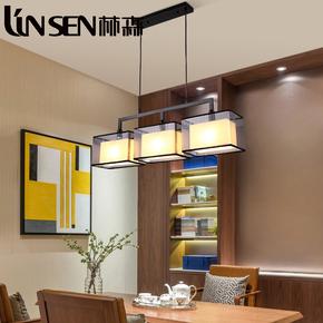 个性吊灯吧台餐厅吊灯新中式创意温馨铁艺卧室书房两三四头吊灯