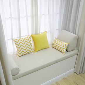 定制卧室温馨米色飘窗垫定做海绵卡座沙发垫窗台垫海绵垫榻榻米垫