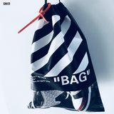 OW Shoe Bag The bag off white Drawstring Dust Bag Storage Bag OW Double Shoulder Bag
