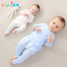 初生宝宝夏季婴儿分体夏装 衣服0 3个月6纯棉套装 优奇和尚服新生