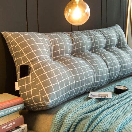 床头靠垫大靠背双人床上榻榻米床头板软包靠背垫三角护腰靠枕简约