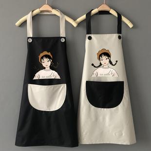 可爱日系围裙防水防油家用厨房做饭家务女时尚大人工作服定制logo