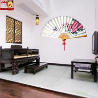 山越中国风手绘鸟语花香壁扇工艺品厅堂装饰大挂扇子定制免费题字