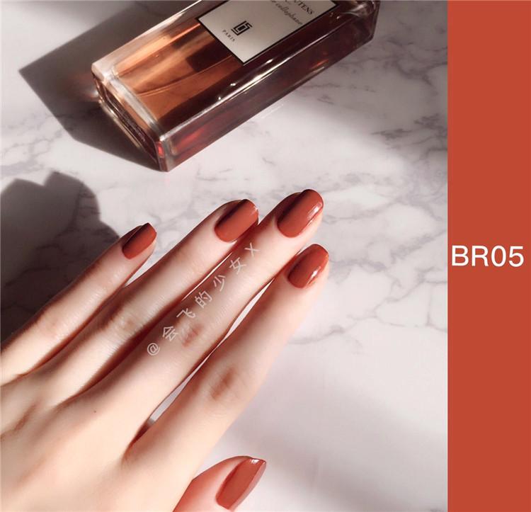 现货 韩国3CE秋冬系列南瓜色指甲油吃土色豆沙色指甲油酒红色