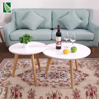 北欧烤漆组合茶几实木圆桌日式小户型客厅小茶几简约沙发边几角几双十二