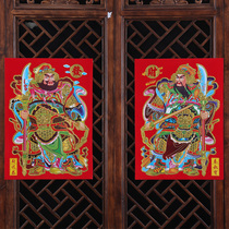 Gate door God year painting 2019 Weichai Qin shubao town house door stickers Guan Gong Zhang Fei stickers New Year decoration supplies
