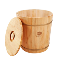 KX/Kangxi cedar wood storage rice barrel storage box sealed pest control moisture-proof rice cylinder fresh rice noodle barrel covered environmental protection