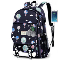 Backpack female Korean version of the small fresh travel bag canvas campus backpack pupils junior high school students bag handbags fashion