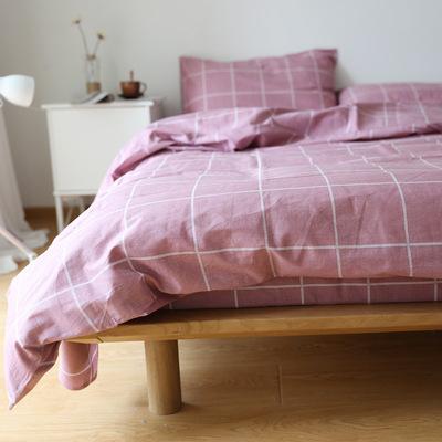 日式纯棉简约格子床单单件双人被套1.2 1.5 1.8学生宿舍床上用品最新最全资讯