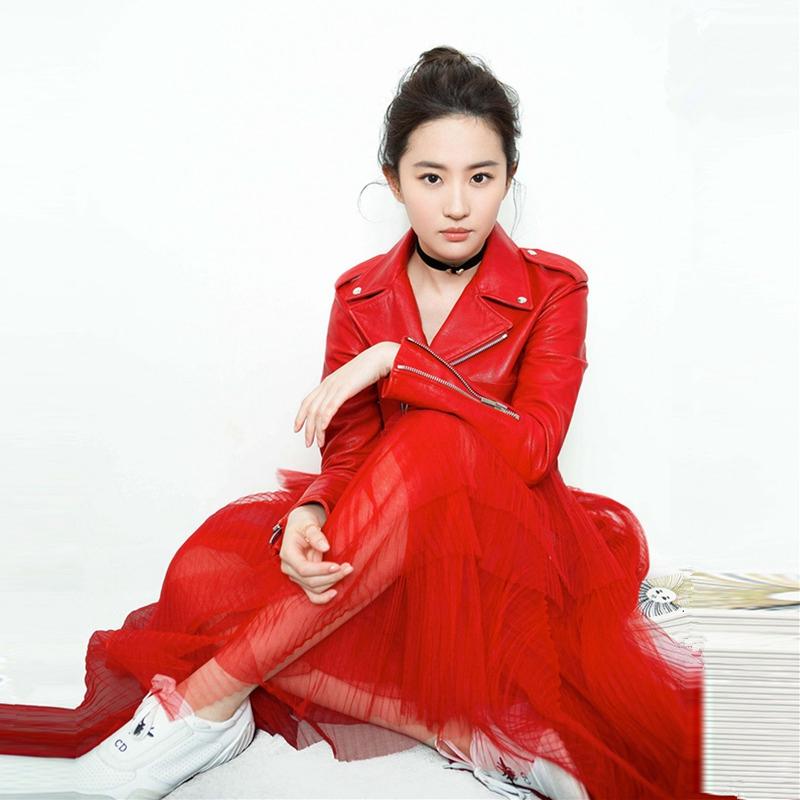 PU机车皮夹克女 2017短款 赵薇刘雯同款 秋季新款 皮衣女外套显瘦修身