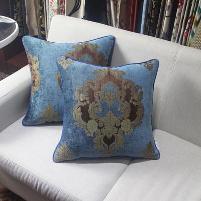 丝茉尔典雅欧式布艺沙发靠垫抱枕靠枕含芯大床头靠背垫靠垫套65