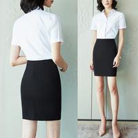 职业装套装女短袖2018新款女装套裙时尚工装工作服面试夏季ol正装