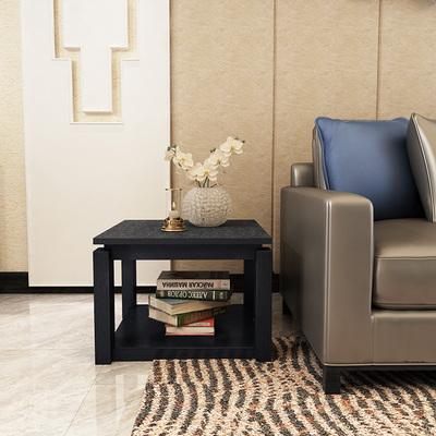黑色沙发边几角几客厅玄武石大理石方几实木火烧石小茶几现代简约最新最全资讯