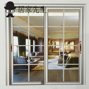 杭州居家先生卧室客厅玻璃滑动门阳台推拉移门厨房中空门滑门定制