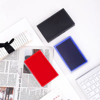 Deli Deli 9864 square quick-drying pad large Indonesian India red financial printing pad quick-drying ink sponge inkpad accounting cashier stamp blue black