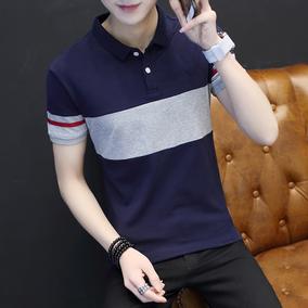 男短袖t恤韩版潮流夏季男士Polo衫半袖上衣体恤翻领衣服百搭