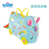 British trunki children's suitcases can be used to ride the storage box suitcases boarding boxes genuine original spot