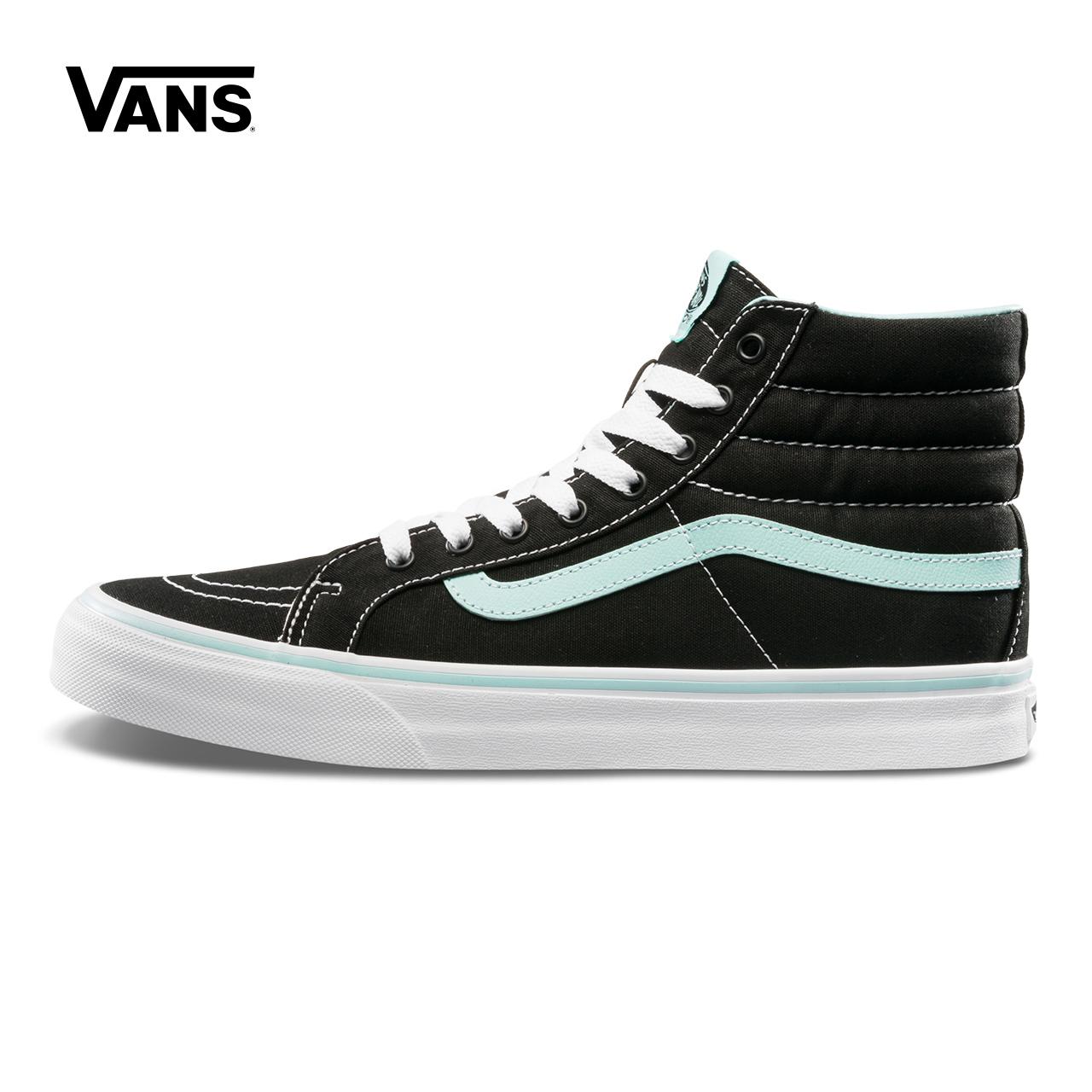 Vans范斯 经典系列 SK8-Hi帆布鞋 高帮新款女子官方正品