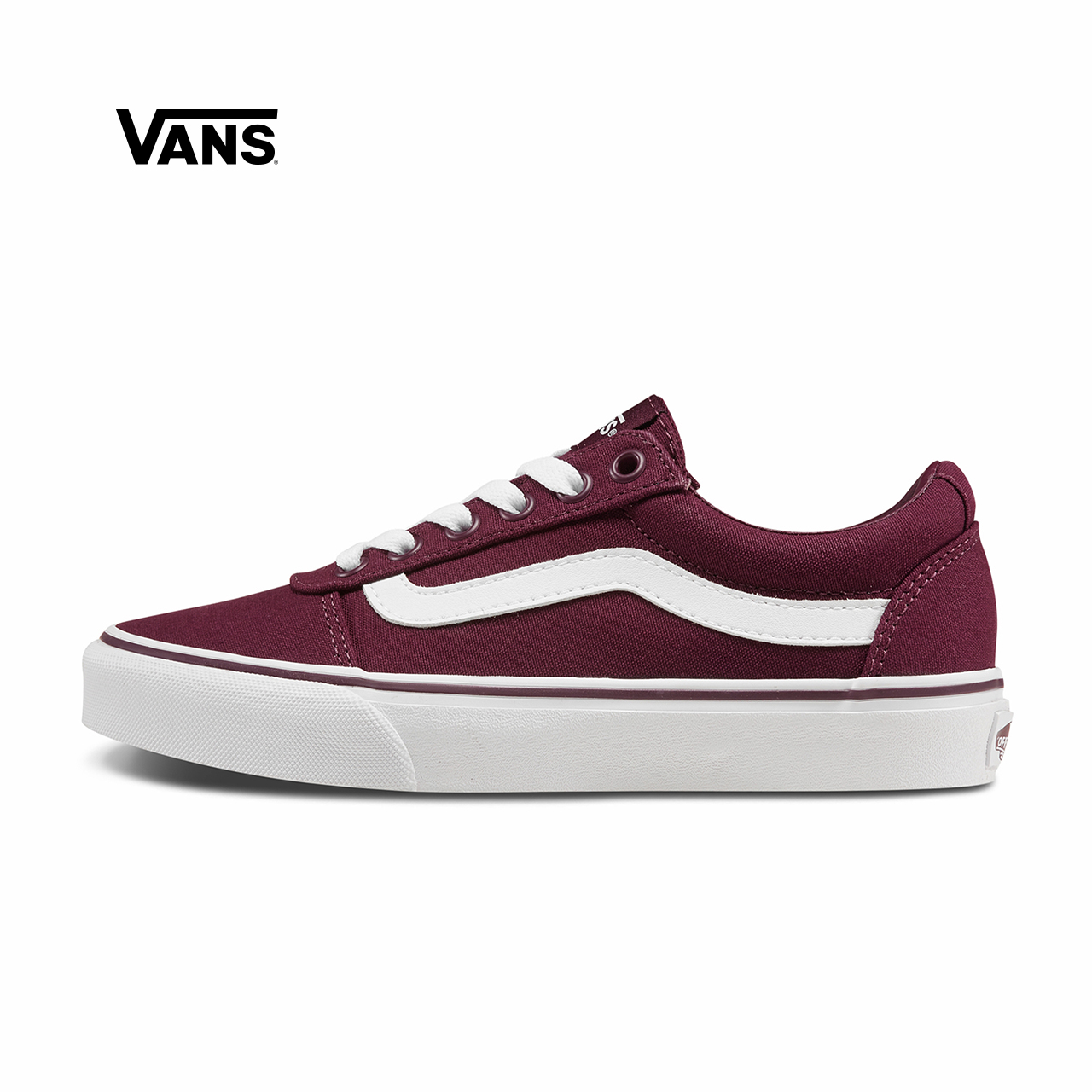 Vans范斯 运动休闲系列 帆布鞋 低帮新款女子侧边条纹官方正品
