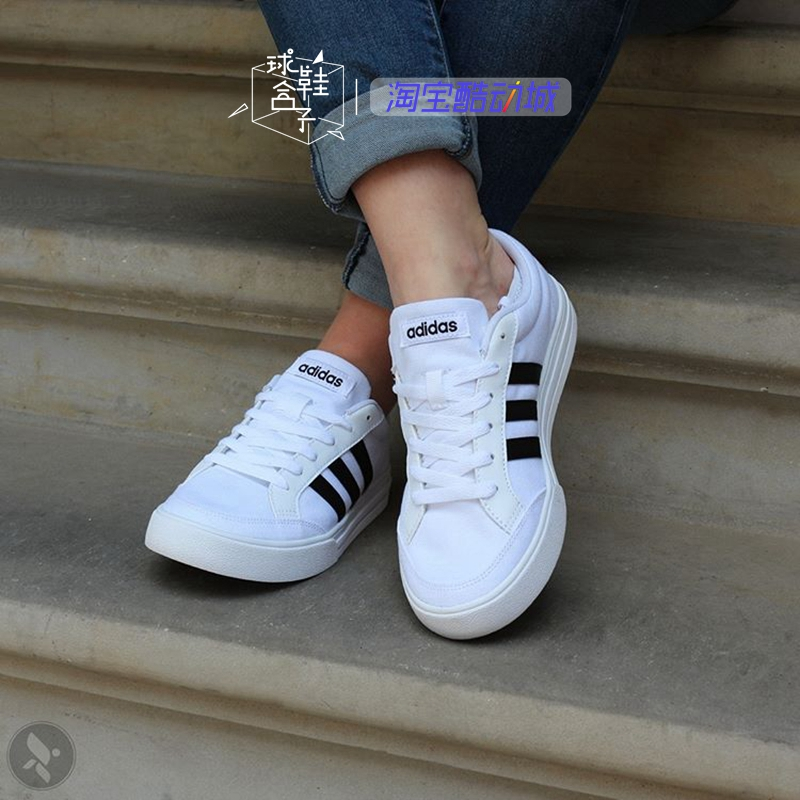 阿迪达斯男鞋2019春季运动鞋小白鞋帆布鞋子低帮板鞋休闲鞋AW3889