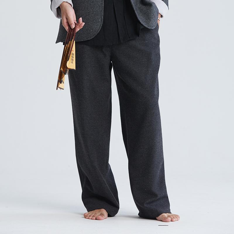 慈缘慈缘--禅修/居士服 中式 秋冬新款长裤YK185-606