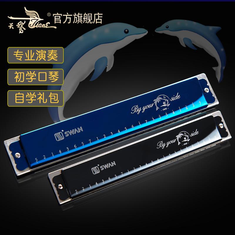 天鹅24孔演奏口琴