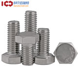 M8304 stainless steel outer hexagonal screw extension full-tooth outer hexagonal screw /DIN933 hexagon bolt