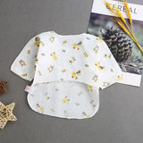 Newborn half-back clothing baby monk clothing summer newborn baby clothes summer half-length gauze long-sleeved shirt button