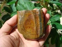 天然老玉河磨手把件岫岩玉手玩件老玉河磨岫玉原石玉裸石手把件