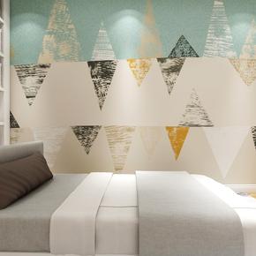 北欧抽象几何ins小清新墙纸简约客厅卧室电视背景墙壁纸沙发壁画
